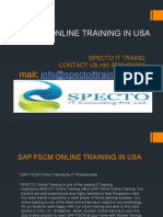 Sap Fscm Online Training in Usa
