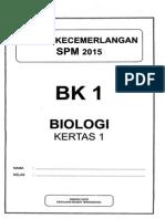 2015 Terengganu Bio 1 + Skema