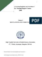 Revised BSc Nursing Syllabus