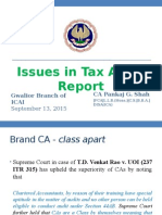 Issues in Tax Audit Report