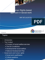 25 September 2013 - Dr Boitumelo Marilyn Setlalentoa ( Using a Human-right Based Approach in Social Work)