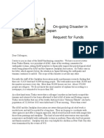 Japan Disaster Relief Cover Letter