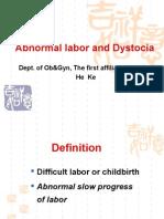 abnormal labor