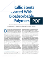 Metallic Stents Coated With Bioabsorbable Polymers