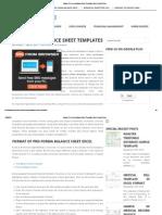 Sample Pro Forma Balance Sheet Templates Excel _ InvoiceTemp