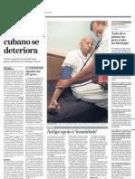 Saúde de dissidente cubano se deteriora