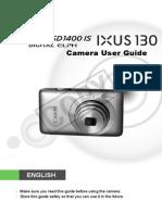 Canon Pssd1400is Ixus130is Cug En