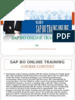 Sap Bo Online Training from Hyderabad, India, USA, UK, Canada.