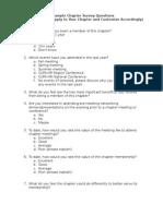 Sample Chapter Membership Survey