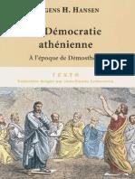 HANSEN, La démocratie athénienne à l'époque de Démosthène