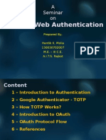 Advance Authentication Techniques
