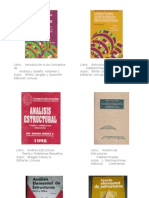 Llibros de Analisis Estructural