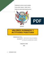 ENSAYO LOS VALORES HUMANOS Y LAS ACTITUDES POSITIVAS.docx