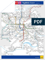 Essen Schematischer TagNetz Linienplan 2014