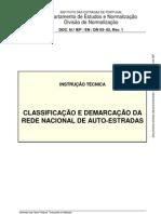 CLASSIFICAÇÃO E DEMARCAÇÃO DA REDE NACIONAL DE AUTO-ESTRADAS