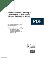 API TR 939D - SCC of CS in Fuel Grade Ethanol