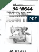 Partsbook Pegasus W644, W664