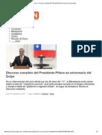 Piñera, Sebastián - Discurso 40 Años Del Golpe Militar