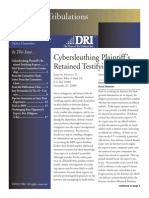 Cybersleuthing Plaintiff's Retained Testifying Experts
