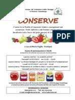 Corso Conserve Settembre 2015