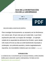 Importancia de La Inv. c. en La Universidad