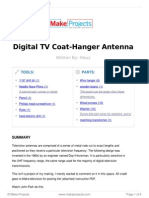 Digital TV Coat-Hanger Antenna