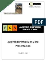 """Auditor Experto en Ifs y Brc-presentaciã""""n"""