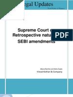 Note on Retrospective Nature of SEBI Amendments