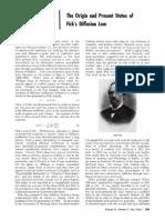 The Origin and Present Status of Fick's Diffusion Law