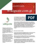 Comunicado sobre Wikiguate