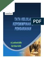 5. Tata Kelola, Kepemimpinan & Pengarahan (TKP