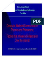 Factor of That Influnce Collaboration Internet