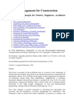 Project Management for Construction Book - 2008