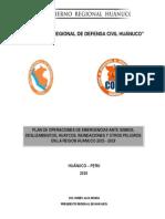Plan de Operaciones de Emergencia de La Region Huanuco 2015 - 2018