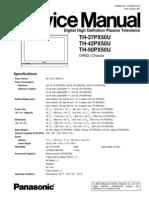 Panasonic Th 42px50u Service Manual