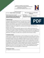 Reporte.educación Histórica, Una Propuesta Para El Desarrollo Del Pensamiento Histórico en Los Estudiantes de La Licenciatura en Educación Prees