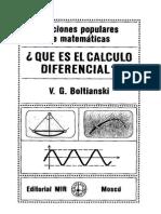 Qué Es Cálculo Diferencial - V. G. Boltianski