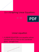 11-1 Graphing Linear Equations