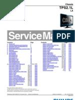 9619 Philips 22PFL3404-77!78!26PFL3404!77!78 Chassis TPS2.1L-LA Televisor LCD Manual de Servicio