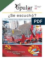 El Popular 324 Órgano de Prensa Oficial del Partido Comunista de Uruguay.