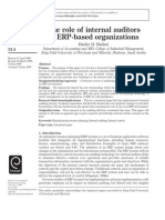 The Role of Internal Auditors in ERP-based Organizations