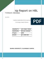 HBL Internship Report