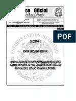 Normas de proyecto para obras de alcantarillado pluvial en el estado de baja california
