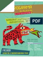 Programa Pelis semana por la soberanía audiovisual 2015