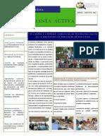 Boletín Informativo Ciudadanía Activa No. 2 Abril- Agosto...