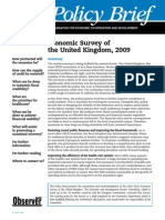 Economic Survey of the United Kingdom 2009