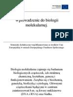 Wprowadzenie do biologii molekularnej