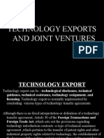 technology exports and joint venture