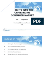 The Changing US Consumer Speech - SIS International Research
