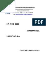 Resolução Prova ENADE 2008